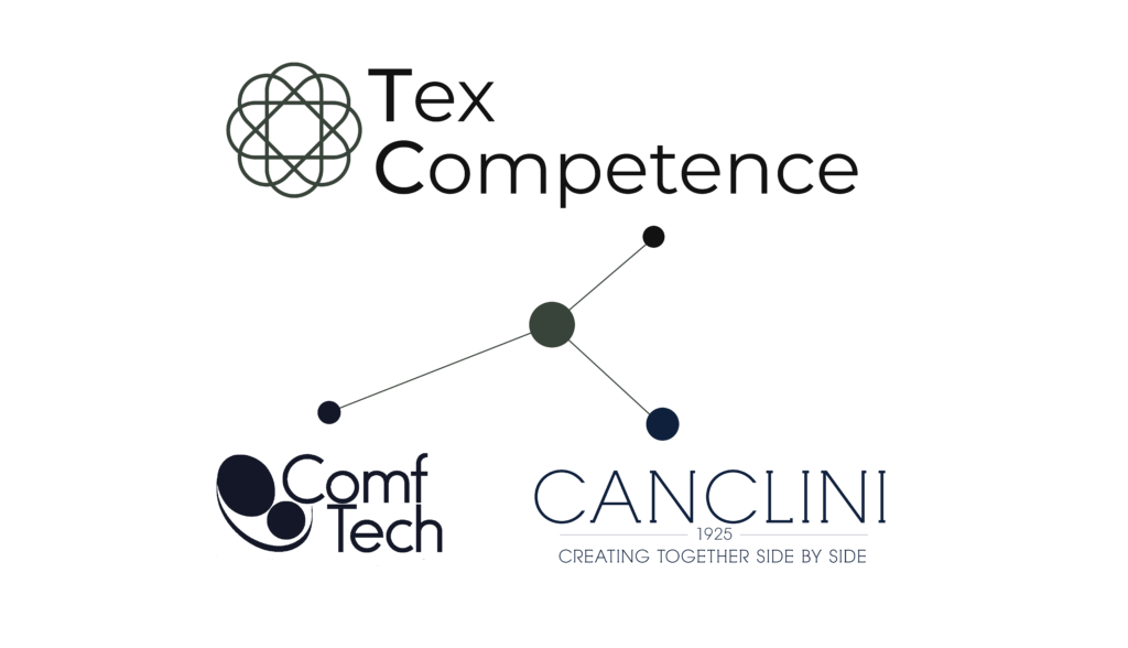 IN THE SETTING OF MILANO UNICA COMFTECH & CANCLINI PRESENT SMART BUSINESS SHIRT, THE INTELLIGENT SHIRT. banner Tex Competence 02 2